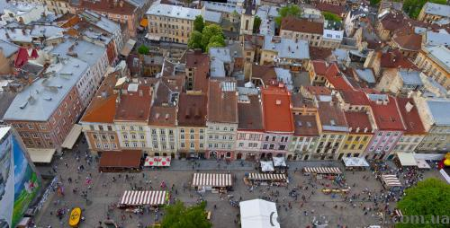 View from the Lviv City Hall tower