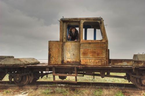 Заброшенный завод на озере Сиваш