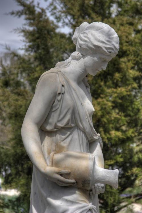 Sculpture in the arboretum