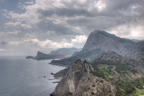 View of mount Sokol (Falcon) and Cape Kapchik from the Genoese Fortress