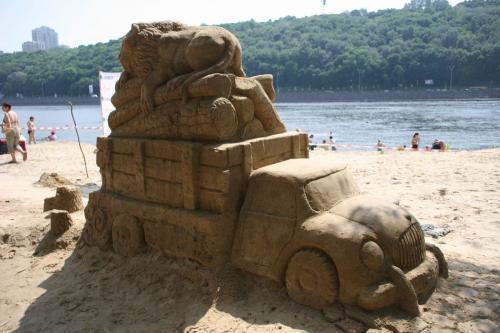 Выставка песочных скульптур в Киеве