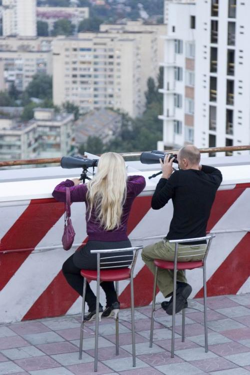 Observation deck on Chervonozorianyi Avenue