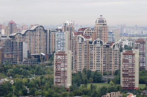 New buildings on Pechersk (one of the central Kyiv districts)