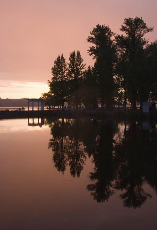 Тернопільський став на заході сонця