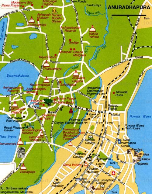 Map of Anuradhapura