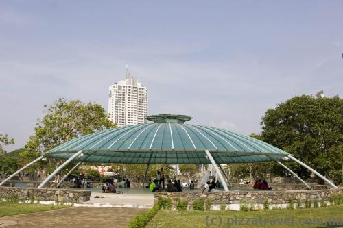 Large gazebo on the island
