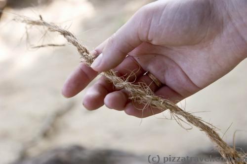 Веревка из кокосового волокна