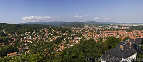 View of Wernigerode from the castle's observation deck
