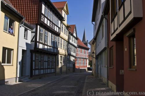 Half-timbered houses in Quedlinburg