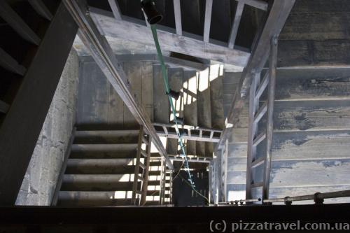 Stairs to the observation tower