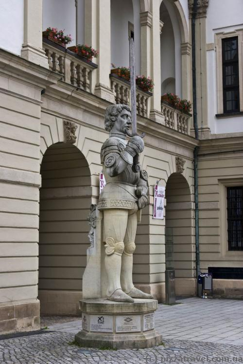 Sculpture of Roland in Magdeburg