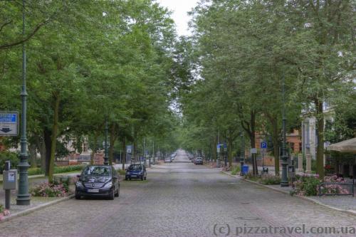 Красивая улица Hegelstrasse