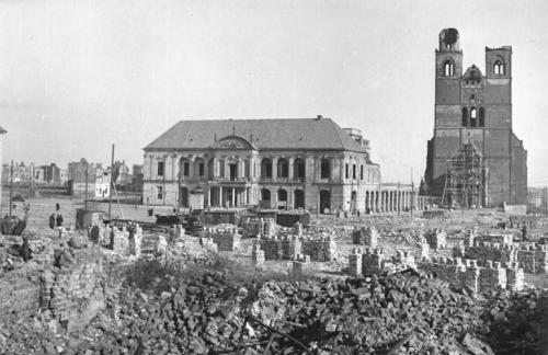 Рыночная площадь в 1945 году