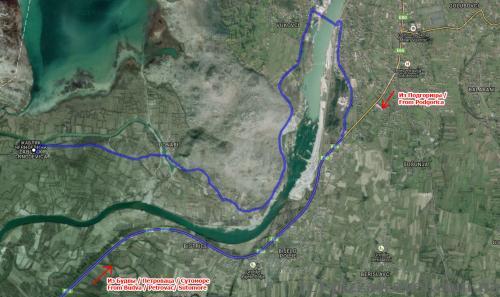 Крепость Жабляк Црноевича, карта