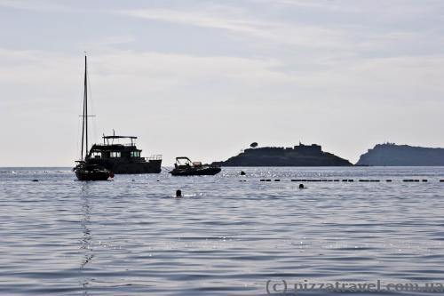 View of the Mamula Island from the Zanjich beach