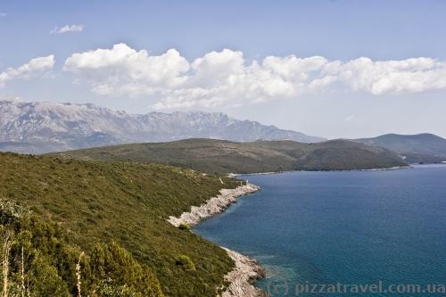 Scenery along the way to the Zanjich beach