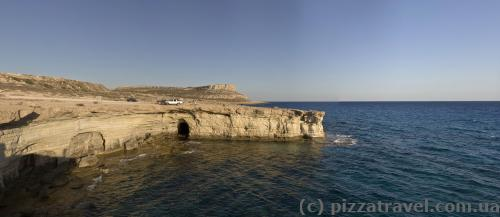 Sea caves at Cape Greco