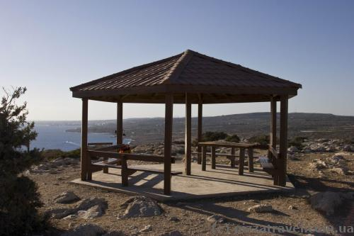 Gazebo at the top of the viewpoint