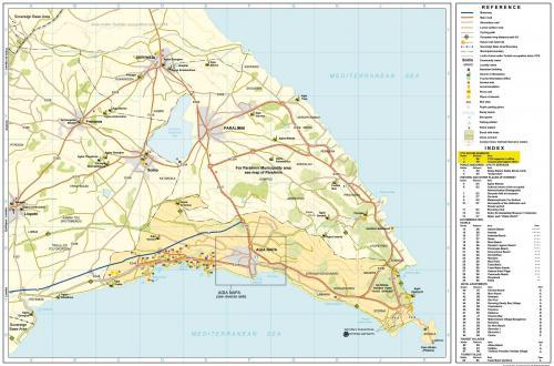 Мис Греко. Карта