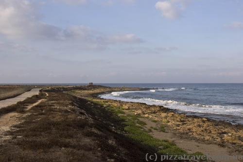 Deserted coast in Paphos
