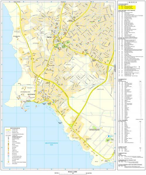 Большая карта Пафоса