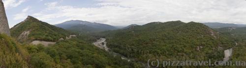 Вид з фортеці Уджарма