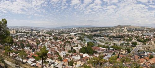 Панорама Тбилиси с крепости Нарикала