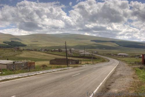 Road near the Paravani Lake