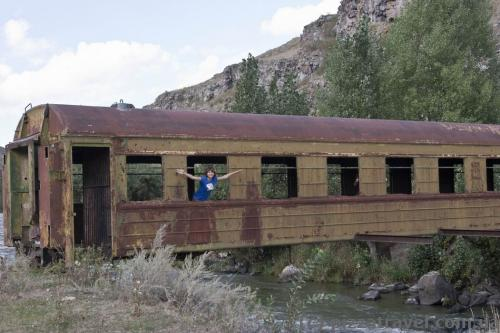 Train car bridge