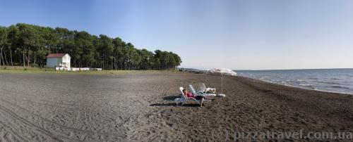 Beach at the recreation center near Batumi