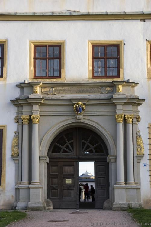 Entrance to the Friedenstein Castle