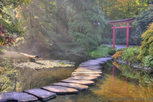 Японский уголок в парке Вестфален