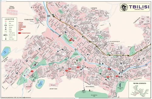 Карта Тбілісі
