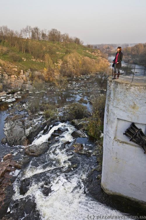 Смотровая площадка на ГЭС в Стеблёве