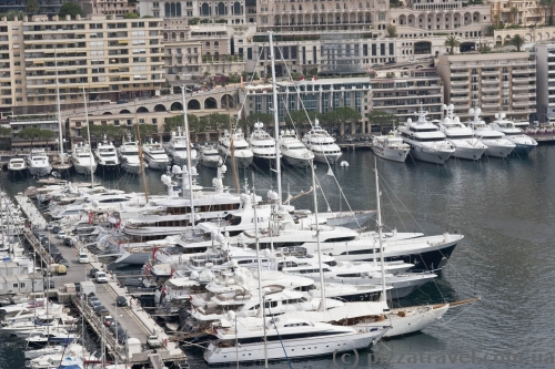 View of harbor in Monaco