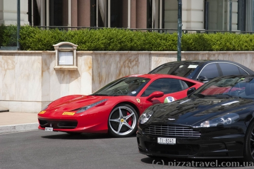 Expensive cars in Monaco