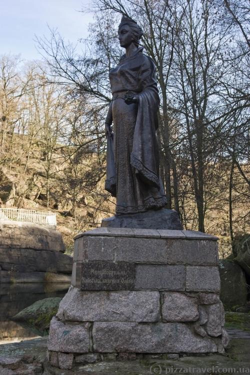 Princess Olga monument in the Ostrovsky Park in Korosten