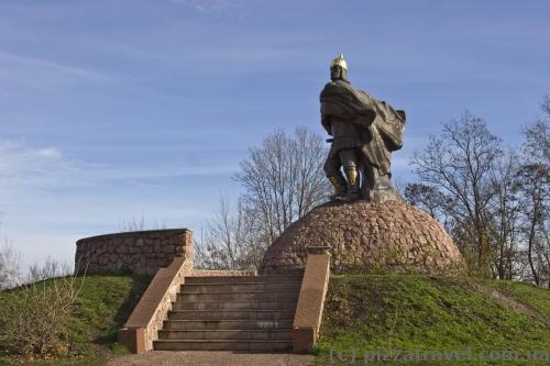 Statue of Prince Mal in the Ostrovsky Park in Korosten