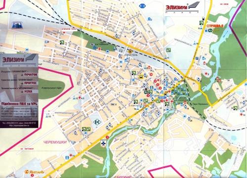 Map of Korosten