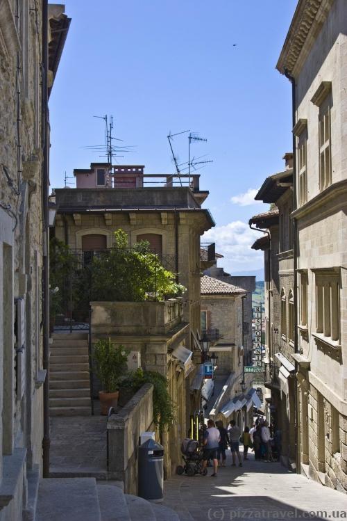 Улочки Сан-Марино