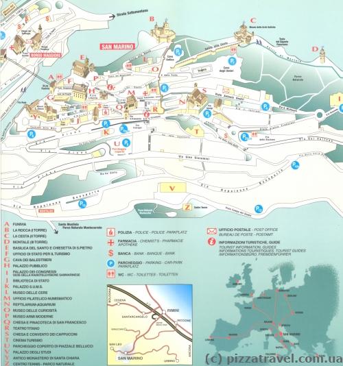 Карта Сан-Марино