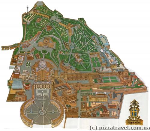 Карта Ватикана