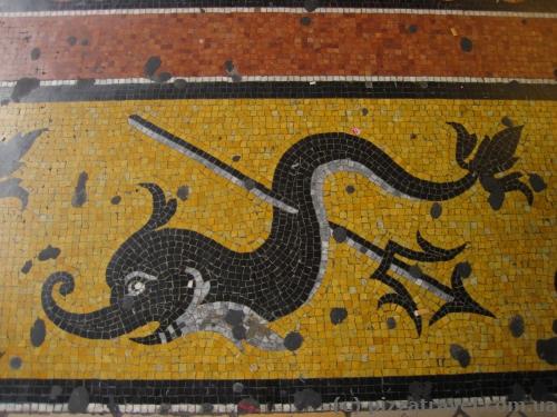 Mosaics on the streets of Genoa