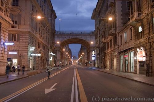 Улица 20-го сентября в Генуе