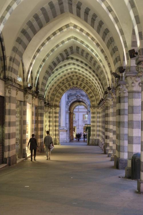 Arcades in Genoa