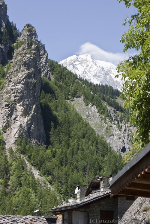 Courmayeur - Mont Blanc view from the hotel window
