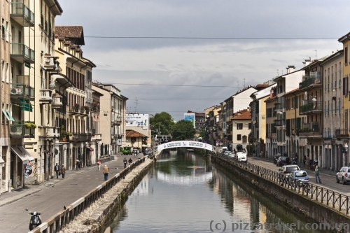 There are canals in Milan, but they are not in the downtown.
