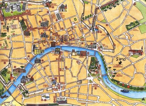 Туристична карта Пізи