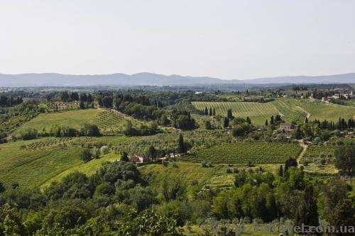 Сан-Джиміньяно, вид на Тоскану