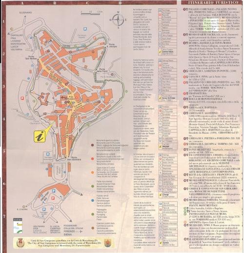 Карта Сан-Джиміньяно